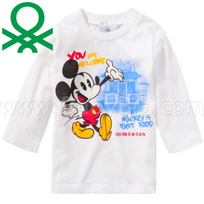 6ef2b15d242 Benetton · Benetton - Бебешка блузка (74см.) Welcome To The Mickey's Fast F