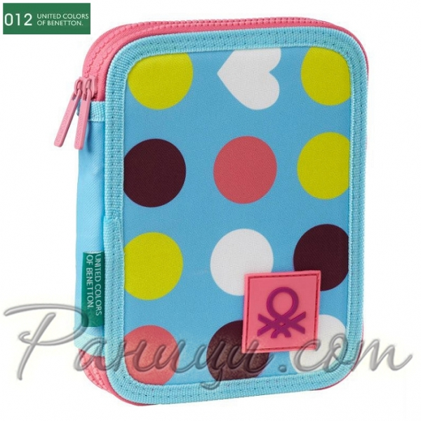 0488ea95b0c United Colors of Benetton 012 Dots - Несесер за училище с 31 акс