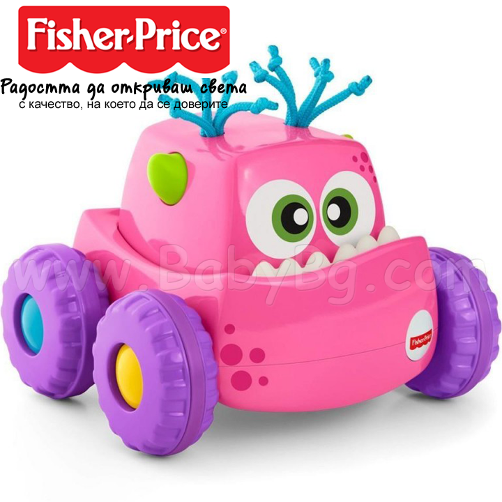 Fisher Price Press'N Go Monster Truck Играчка камионче Girl DRG1
