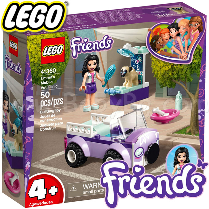 2019 LEGO® Friends Мобилната ветеринарна клиника на Ема 41360